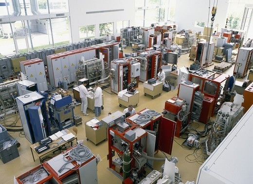 Stock Photo: 4359-566 Production Hall For Assembling Plasma Deposition Plants