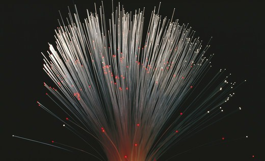 Stock Photo: 4359-671 Close-up of fiber optic cables