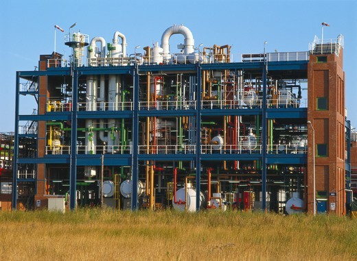 Germany, Chemical processing and production facility : Stock Photo