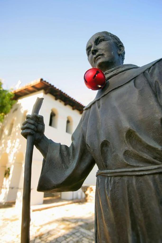 Stock Photo: 4362-273 Statue of Father Junipero Serra