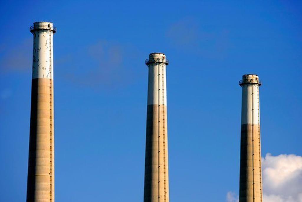 Stock Photo: 4362-689 Smokestacks