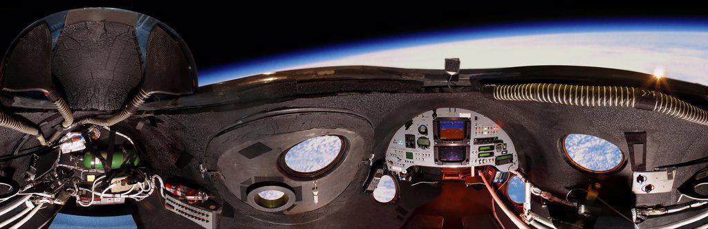 Stock Photo: 4366-127 Interior of SpaceShipOne