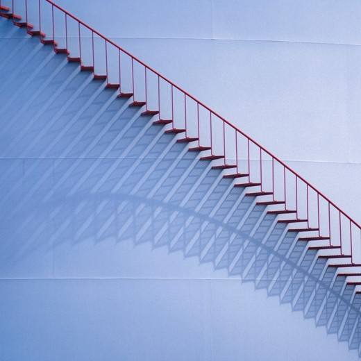 Oil Storage Tank and Stairs : Stock Photo