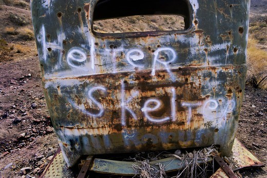 Stock Photo: 4369-148 Helter Skelter Graffiti on Manson Truck