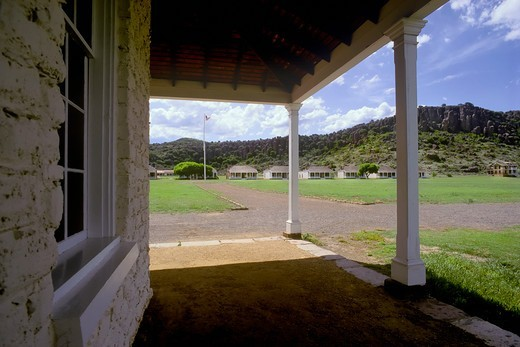 Stock Photo: 4369-229 Parade Ground at Fort Davis, Texas