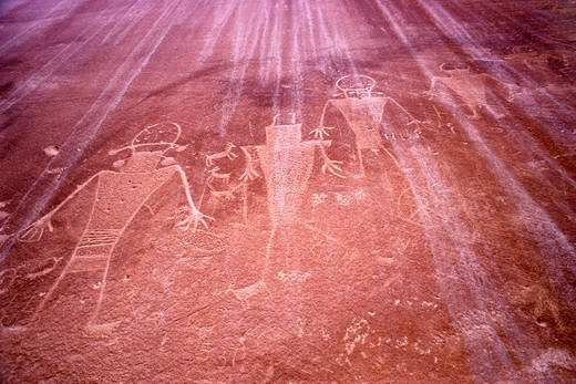 Stock Photo: 4369-396 Valley of Fire Shaman Petroglyphs