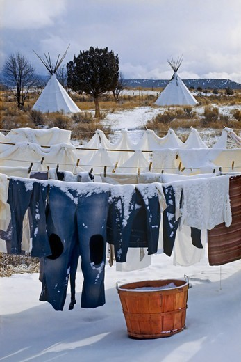 Stock Photo: 4369-422 New Buffalo Commune, New Mexico