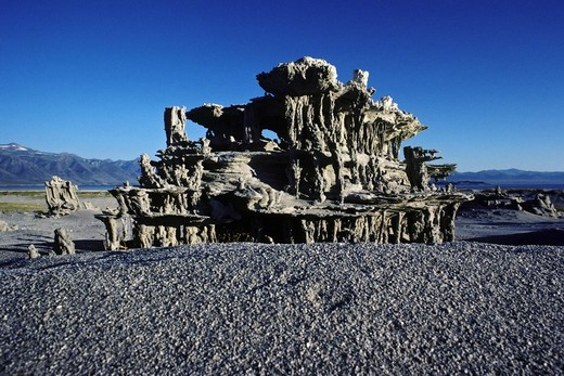 Stock Photo: 4369-744 Sand tufas in Mono Lake, California, USA.