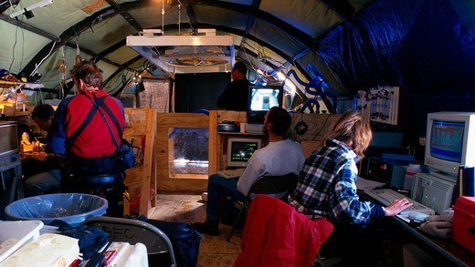 Stock Photo: 4373-1267 Research Camp for Antarctic Scientists