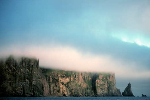 Stock Photo: 4373-656 Fog Shrouds Island