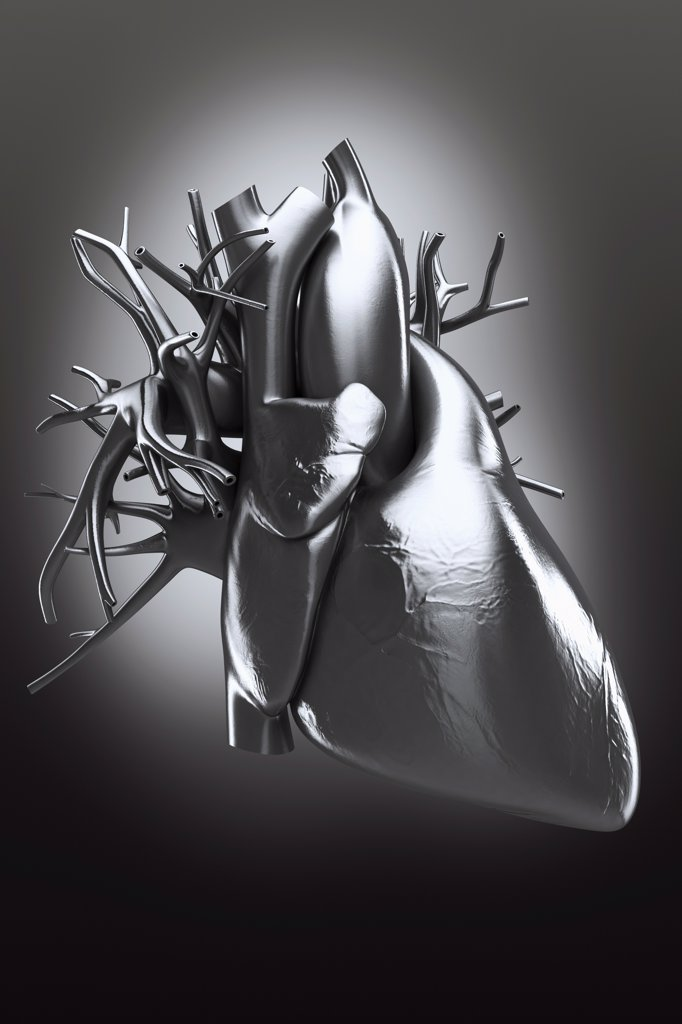 Stock Photo: 4378-4215 Metal Heart