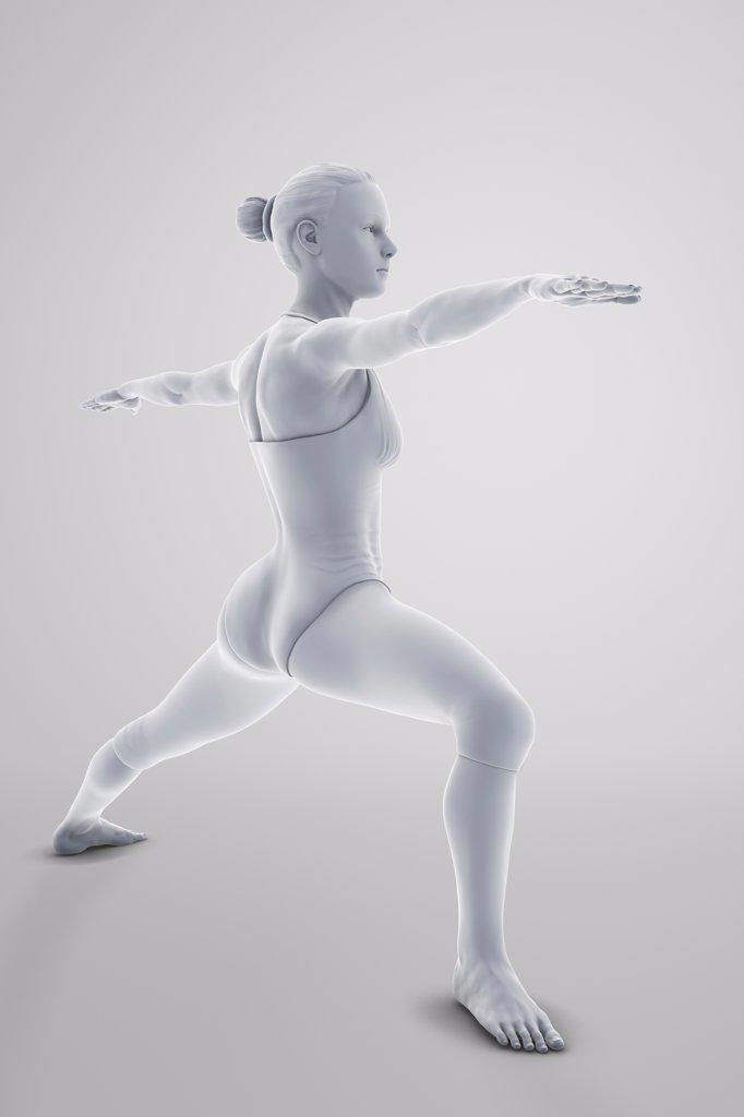 Stock Photo: 4378-4752 Yoga Warrior Pose