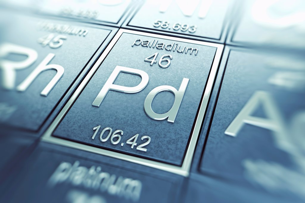 Stock Photo: 4378-4893 Palladium (Chemical Element)