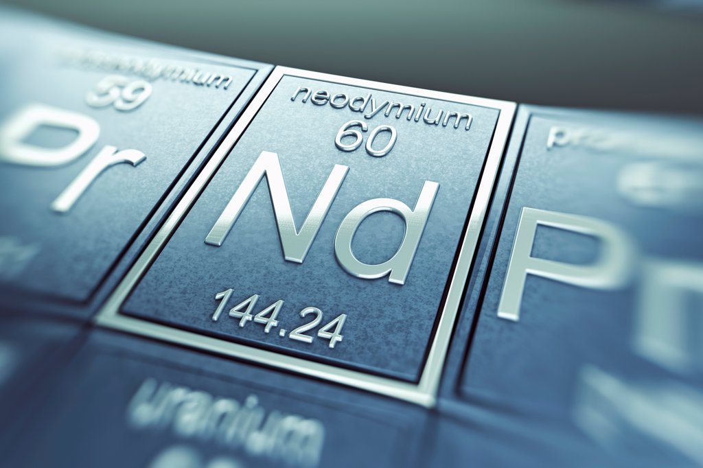 Stock Photo: 4378-4907 Neodymium (Chemical Element)