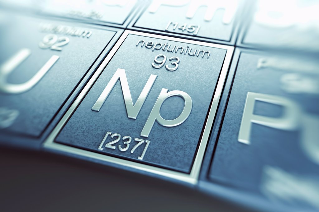 Stock Photo: 4378-4940 Neptunium (Chemical Element)