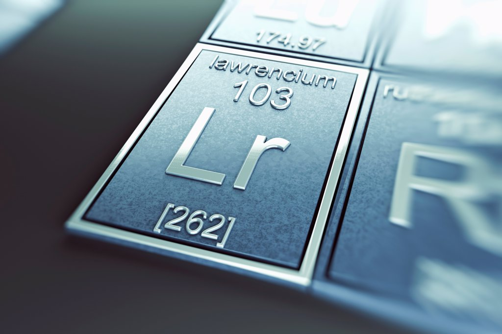 Stock Photo: 4378-4950 Lawrencium (Chemical Element)