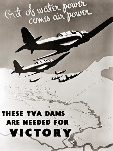 Stock Photo: 4388-1018 Poster Linking TVA to Victory