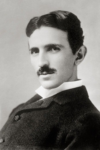 Inventor and Physicist Nikola Tesla : Stock Photo