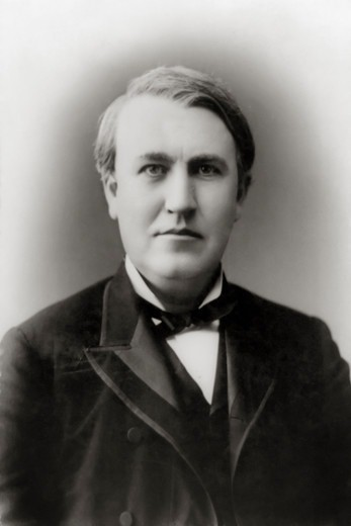 Inventor Thomas Alva Edison : Stock Photo