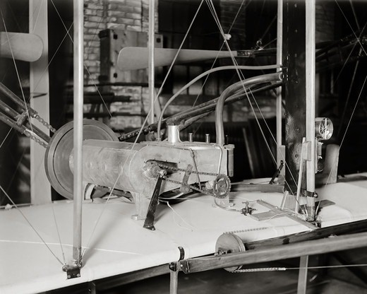Engine of the 1903 Wright Flyer : Stock Photo