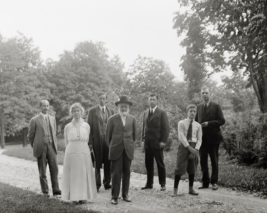Wright Family at Orville Wright's Home : Stock Photo
