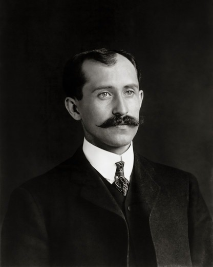 Stock Photo: 4388-251 Portrait of Airplane Inventor Orville Wright