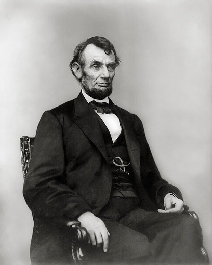 Stock Photo: 4388-361 President Abraham Lincoln