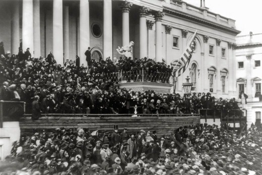 Stock Photo: 4388-369 President Lincoln's Second Inauguration