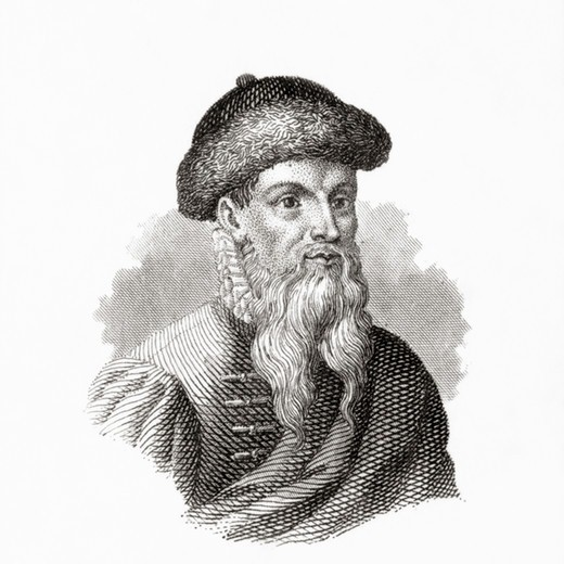 Stock Photo: 4388-415 Johannes Gutenberg