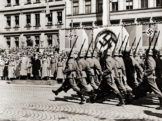 Nazis Marching : Stock Photo