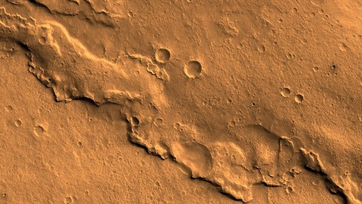 A Wrinkle Ridge in Solis Planum Seen by Mars Reconnaissance Orbiter : Stock Photo