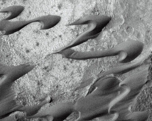 Syrtis Major Dunes Seen By Mars Global Surveyor : Stock Photo