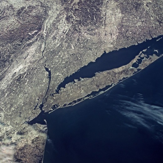 New York City and Long Island From Orbit : Stock Photo