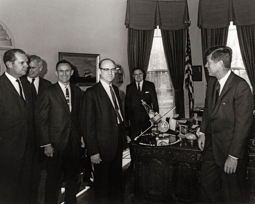 Kennedy Receives Mariner 2 Model : Stock Photo