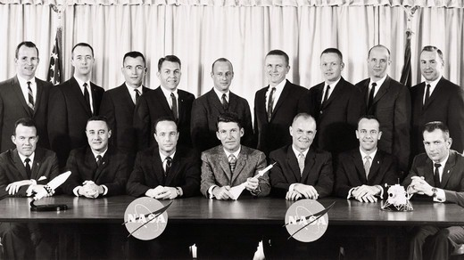 Stock Photo: 4389-1747 The First and Second Groups of Astronauts