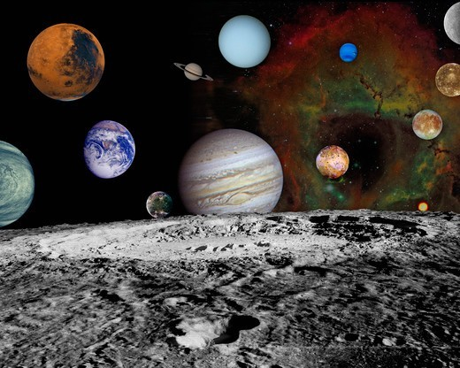 Stock Photo: 4389-1957 Planets of the Solar System