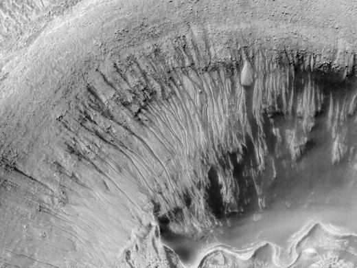 Crater Shows Evidence for Water : Stock Photo
