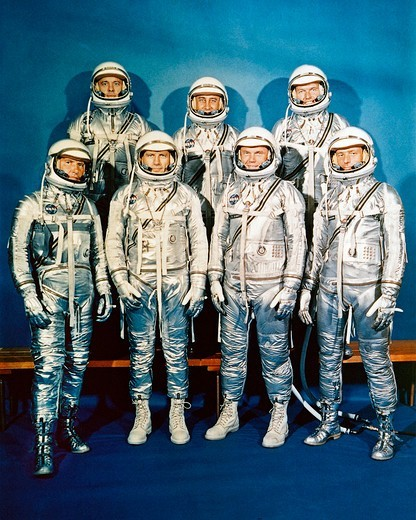 Stock Photo: 4389-2257 The Mercury Seven
