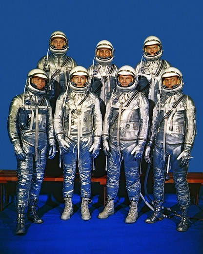 Stock Photo: 4389-2285 The Mercury Seven
