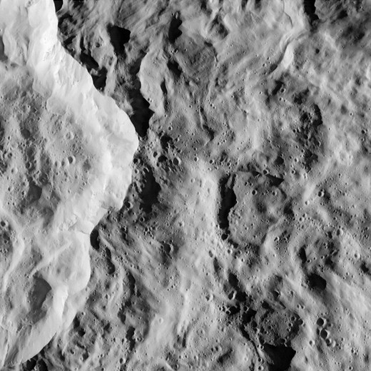 Stock Photo: 4389-626 Close-Up of Crater on Surface of Rhea