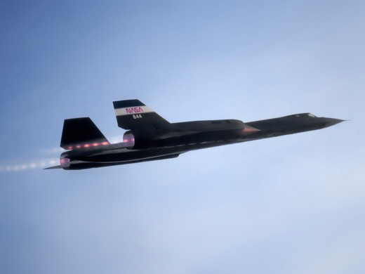 Stock Photo: 4389-799 SR-71 Taking Off