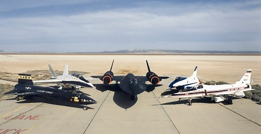 Planes at Rogers Dry Lake Bed : Stock Photo