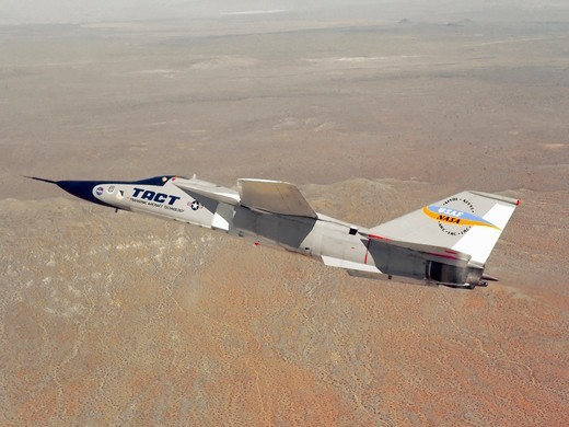 F-111 TACT in Flight : Stock Photo