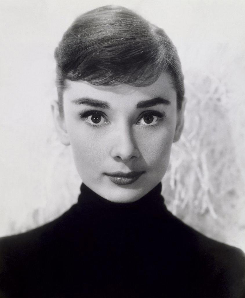 Stock Photo: 440-9232 Audrey Hepburn  1956   Actress (1929-1993)