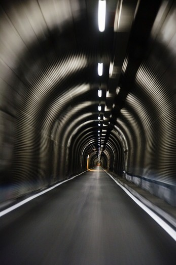 Stock Photo: 4400R-1175 A car tunnel, Switzerland.