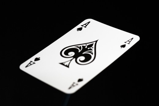Ace of spades, close-up. : Stock Photo