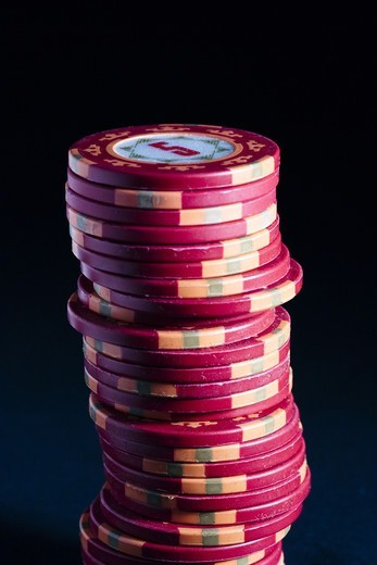 Stock Photo: 4400R-1732 Counters on a casino, close-up.