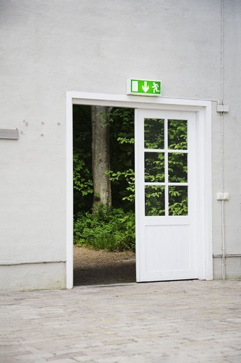 Stock Photo: 4400R-2668 An open outer door, Sweden.
