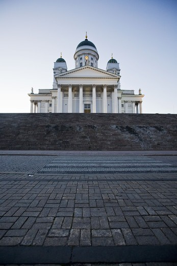 Stock Photo: 4400R-3121 The cathedral Suurkirkko, Helsinki, Finland.
