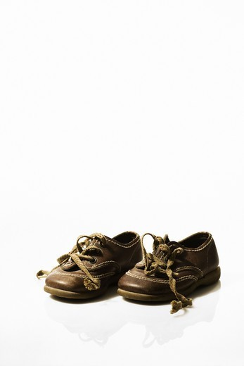 A pair of old shoes, Sweden. : Stock Photo